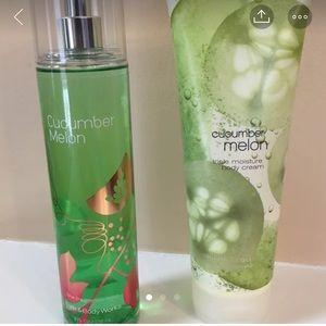 Bath and Body Works Cucumber Melon Set